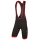 Endura Xtract Gel 400 Series Bib Shorts Heren rood/zwart